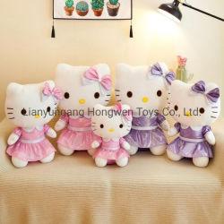 Горячая продажа Cute Мягкие плюшевые игрушки плюшевая животных Hello Kitty Cat с платье для подружки подарки