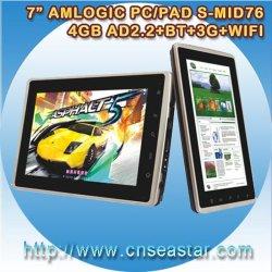 7 duim van MEDIO Amlogic A9, 4GB, 1GHz 3G HDMI 1080p met 3G, Bluetooth, WiFi, Webcam (s-MID76)