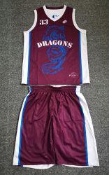 Mayorista de ropa deportiva personalizada Reversible Camiseta de Baloncesto de poliéster de Hombres Jóvenes