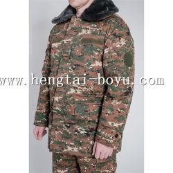 Denim-Umhüllungen-blaue und weiße Steigung-blich Long-Sleeved Gesamt-Ladung-Denim-Umhüllungen-Oberbekleidung der Männer gewaschene dünne Kleidung