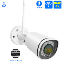 4K Sicherheit CCTV-IP-Kamera des drahtlosen WiFi Kamera Fern-Ableiter-Einbauschlitz-im Freien wasserdichte 8MP 5MP 2MP