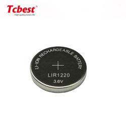 preço de fábrica Lir1220 3,6V 30mAh pilha tipo botão recarregável de lítio