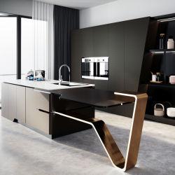 تصميم تقليدي من الحجر المتقاطع مطبخ سطح الطاولة طهو سطح من الرخام مخصص