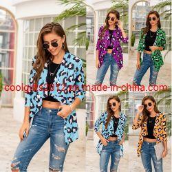Moda Mujer Sexy Conjunto de dos piezas Tops con Leopard y el chaleco de impresión