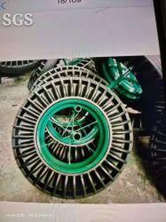 Más de 16 pulgadas Girasol sólido de goma de neumáticos Trolley carretilla