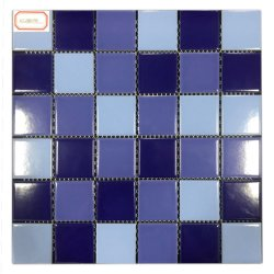 Azul Oceano Piscina Decoração de parede de cerâmica Round Mosaico de piso