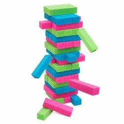 48 numeri Tumbling di legno variopinti della torretta di PCS che impilano i giochi da tavolo educativi di per la matematica del giocattolo delle particelle elementari impostati