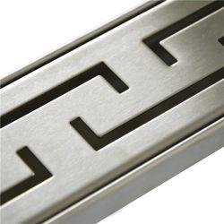 En acier inoxydable 304 douche linéaire de drain de plancher de vidange