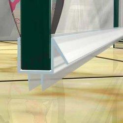PVC U-Form 1000mm Länge für 10mm Glas Duschtür Wasser Dichtung