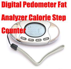 Digitaler Pedometer Fat Analyzer Kalorienzähler