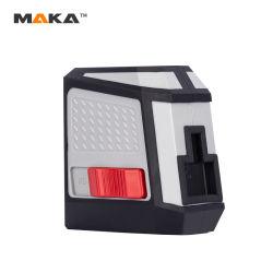 FDA FCC Intertek Ce Maka Mk213p 180 het Auto zelf-Nivelleert DwarsRood van de Reeks van het Hulpmiddel van de Bouw van de Hand van het Niveau van de Laser van de Lijn op Bevorderingen