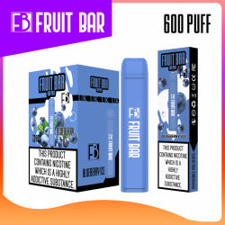UK Hot Sales Fruit Bar 600puff 2mL ディスポーザブル Vape 気化器 E タバコ
