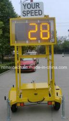 Портативный на солнечной энергии скорость по радару трафика для управления трафиком и безопасности дорожного движения