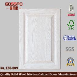 Küche-Schranktür-angehobenes Panel-festes Holz-natürliches Ende (GSP5-009)