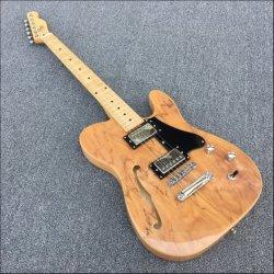 Высокое качество, 2 Humbuckers датчики S отверстие электрическая гитара, Орган Spalted Мкпс, Черный Pickguard, реальные фото