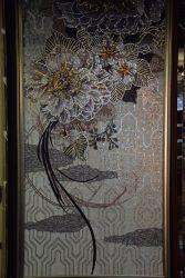 Mármol patrón de chorro de agua medallón de piedra natural mosaico
