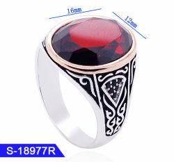 Form-Schmucksachen 925 Sterlingsilber-islamische Finger-Ringe für Männer