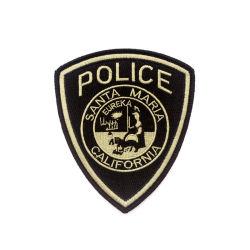 Vêtements de la Police de broderie personnalisée d'un insigne à la promotion du tissu d'un insigne Étiquette
