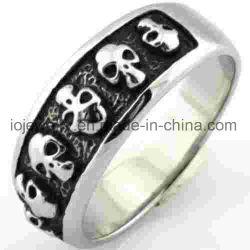 316L anneau en acier inoxydable du crâne de bijoux