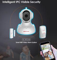 كاميرات أمان IP أنظمة إنذار المنزل اللاسلكي للشقق الرئيسية، المتجر، المدرسة، المصنع، المستشفى، إلخ.