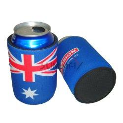 Großverkauf druckte Bier-Kühlvorrichtung-kundenspezifisches Neopren-Getränkegetränk, das stämmige Flasche kann Kühlvorrichtung (BC0001)