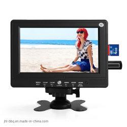 LED de 7 pulgadas de tamaño mini coche TV la celebración de la televisión en La Palma portátil mini-TFT de pantalla de LED TV analógica de televisión digital Multimedie marca OEM