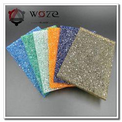 Material de folha de policarbonato PC Lexan Diamond bela decoração de folhas em relevo