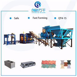 Qt4-15 Finisseur de ciment hydraulique automatique utilisé pour la vente de la machine de bloc