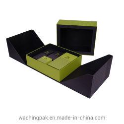 贅沢な両開きドアの宝石類内部の皿が付いている一定の包装ボックス収納箱のギフト用の箱