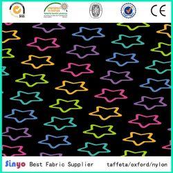 100% polyester 400d'Oxford chiffon avec de DOT Star motif imprimé pour l'École des sacs