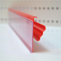 Пластиковый зажим для экструзии профиля полки супермаркета Цена дисплей (DS-1001)