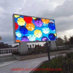 P10/P8すくいの広告媒体のデジタルRGBスクリーン表示Unipole防水屋外LEDの掲示板