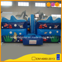 Blauw Rubberend Ocean Bouncers House with Beautiful Printing (AQ02178)