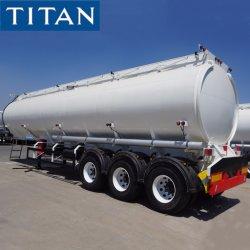 Titan 3 essieux 30000/40000/50000/70000 litres d'huile/carburant/diesel/essence//eau/lait brut Transport Réservoir monobloc en acier/camion citerne semi-remorque