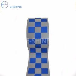 Espol380 E-Shine 100%matériel Polyester tissu à carreaux d'avertissement de bandes réfléchissantes pour gilet de sécurité
