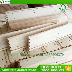 Paulownia/ポプラの木製のEngrooveの引出しの側面および背部