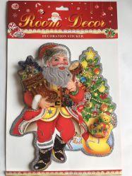 De hete Decoratie van het Huis van de Sticker van Kerstmis van de Verkoop Zelfklevende Vrolijke