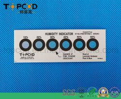 Libre de halógenos de cobalto RoHS azul tarjeta indicadora de humedad normal