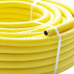 サイズ16mmに32mmの黄色い波形のPE AlPEのガス管