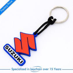 Bon marché et la chaîne de clés en caoutchouc dans logo personnalisé Cat détenteur de carte d'alimentation de l'artisanat de voiture