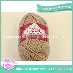 Guantes de tejido a mano Hilado de tejido de lana pura