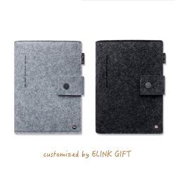 Anneau de capot souple de Bind feutre de laine livre Journal Journal d'ordinateur portable Ordinateur portable avec papier rechargeables
