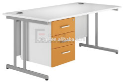 Preiswerter Lehrer-Schreibtisch des Primärschule-Möbel-Professor-Office Table Matel Frame