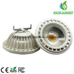 COB LED 12V 110V 220V 230V AR111 GU10 G53 à gradation Ampoule de LED Spotlight 15W