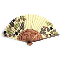 Nouveau style bambou ventilateur à la main avec la forme ronde