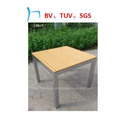 Mobiliário de exterior em alumínio de pintura por pó Tabelas de lazer de madeira (27071)