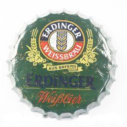 Funny metal llano Tin signo de la cerveza de la barra de la tapa de botella