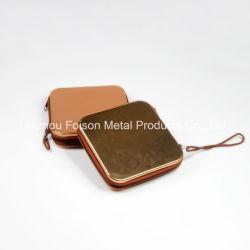 CD DVD Speicher-Kasten des Customzed Zinn-mit Reißverschluss und Hülsen