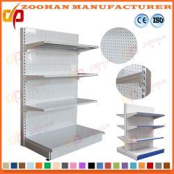 Les trous perforés de métal de bonne qualité supermarché étagère d'affichage des étagères (Zhs129)