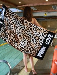 100 хлопка Velvet-Cutting Custom печатаются в Magic пляж полотенце